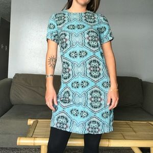H&M Mid-Length Funky Patterned Tunic Dress